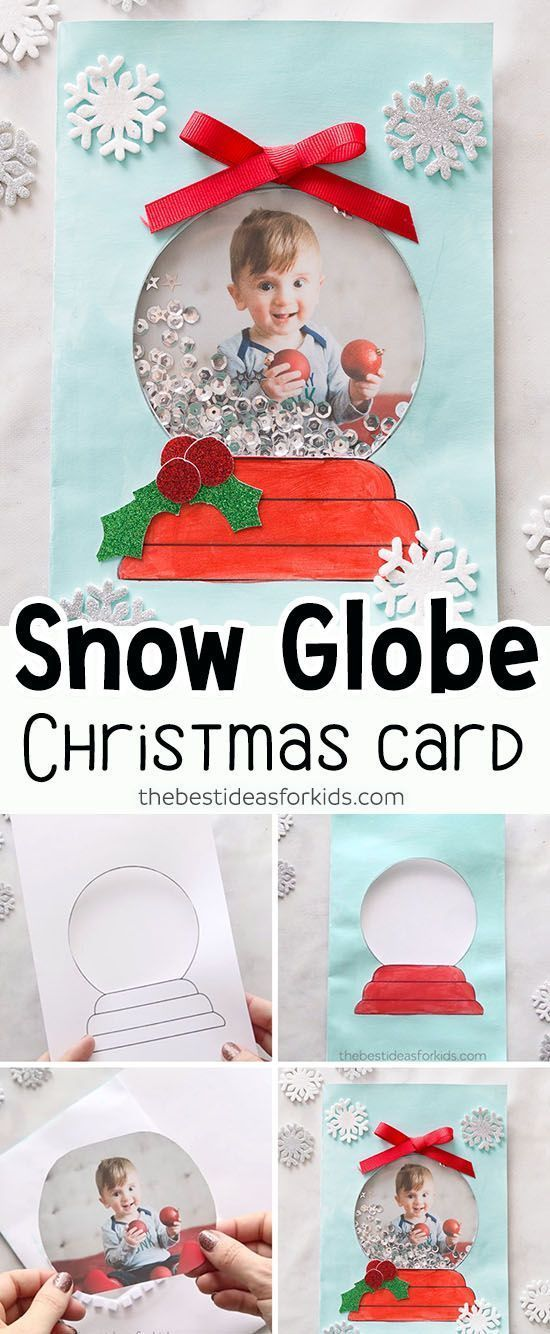 Snow Globe Template Card The Best Ideas For Kids Diy Christmas Cards Preschool Christmas Christmas Cards Handmade