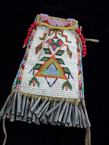 Cheyenne Strike A Lite Bag Beaded Beadwork Antique Plains Native American