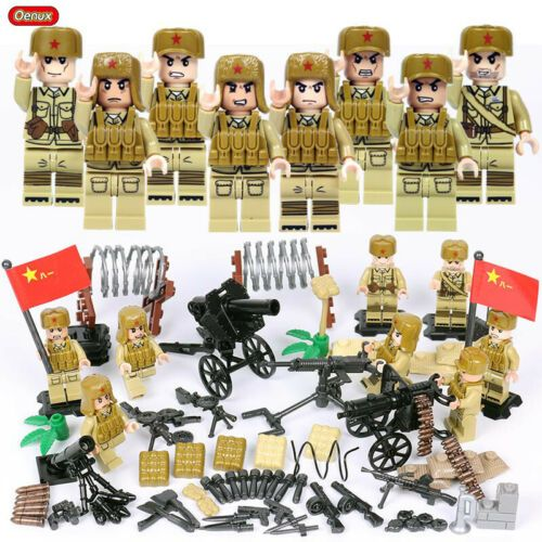 WW2 Classic Military lego Soldiers Building Block Series Weapons Pack US Army