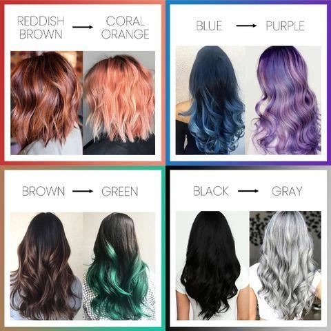 Color Changing Hair Dye Pentacute In 2020 Hair Color Underneath Temporary Hair Dye Cool Hair Color