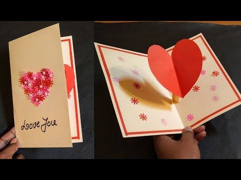Pop Up Card Heart Lovely Pop Up Card Tutorial Valentine S Day Heart Pop Up Card Youtube In 2021 Card Tutorial Heart Pop Up Card Valentines Day Hearts