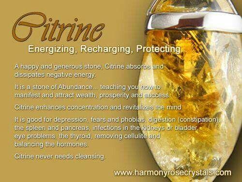 Citrine - Energizing, Recharging, Protecting