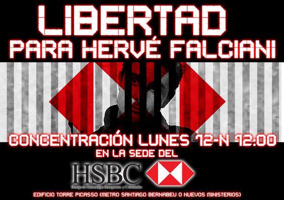 Concentración en apoyo de Hervé Falciani acusado de violar el secreto bancario suizo » Toma los barrios | Carabanchel