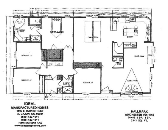 Triple Wide Mobile Homes, Mobile Home Floor Plans And