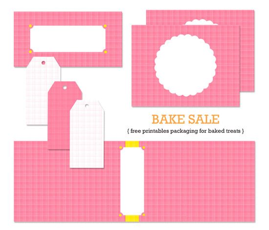 Bake sale bake sale packaging and printables on pinterest for Bake sale labels