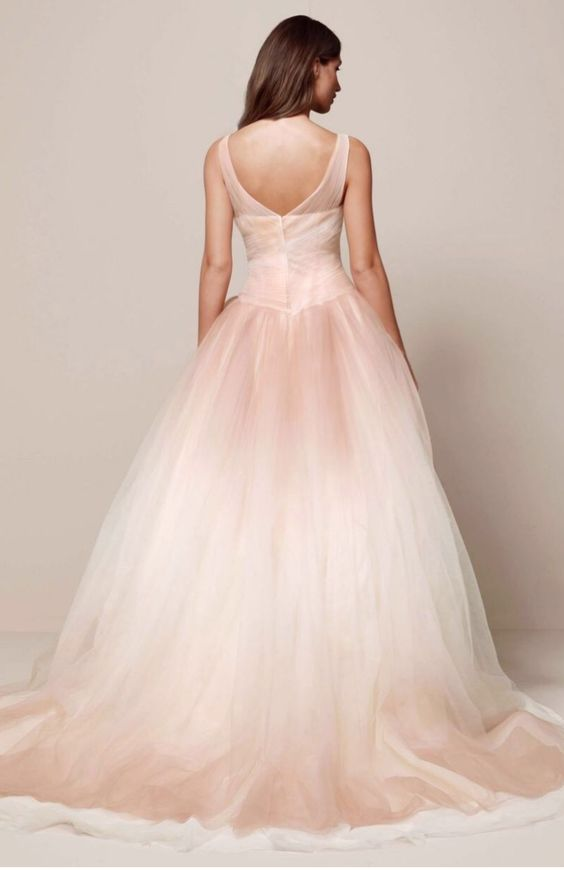 Romantic the o 39 jays and ombre on pinterest for Pink ombre wedding dress