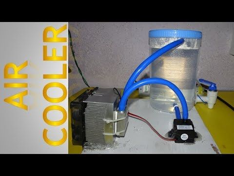 How To Make Air Cooler Using Peltier Youtube Air Cooler