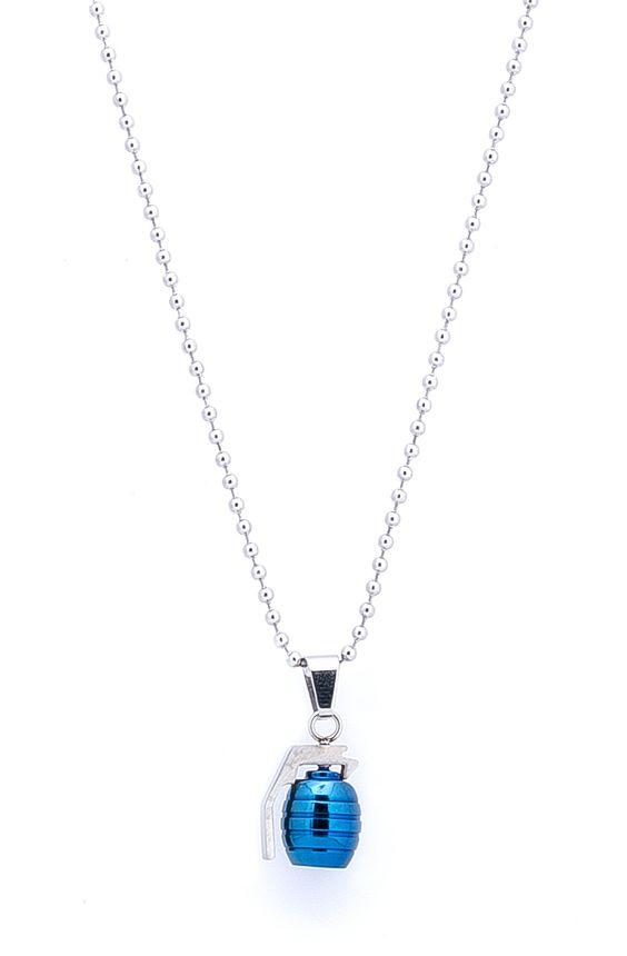 Blue Grenade Pendant Necklace – TAG TWENTY TWO