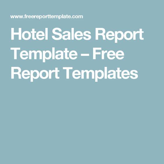 Hotel Sales Report Template u2013 Free Report Templates porto cervo - free report templates