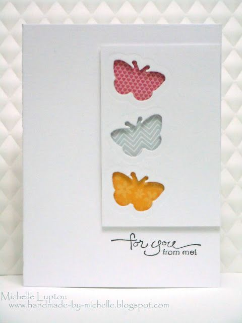 Handmade by Michelle: Three butterflies for three challenges