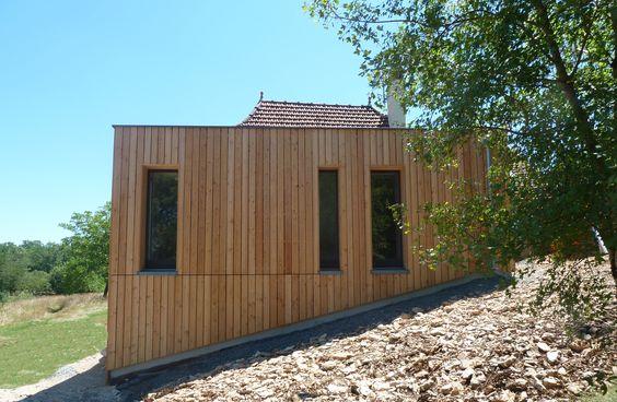 agrandissement du0027une maison en bois cube en ossature bois toiture
