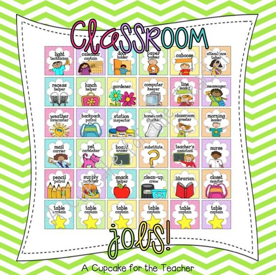 Classroom Job Ideas For Kindergarten : A great list of classroom jobs younger kids are going to