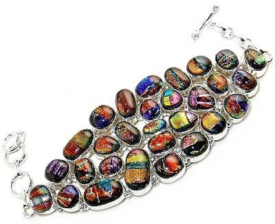 Huge-Multicolor-Dichroic-Glass-and-Sterling-Silver-Bracelet