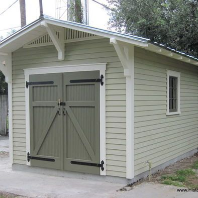 10'x15' Storage Shed for a Bungalow by Historic Shed - Custom garden shed  designed to complement a bungalow. | Outdoor Project Inspiration |  Pinterest ...