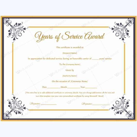 13 Best Years Of Service Award Images On Pinterest Award   Award Paper  Template  Award Paper Template