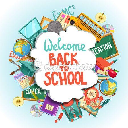 Bem-vindo de volta à escola — Ilustração de Stock #82705434