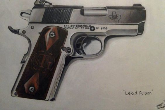"""""""Lead Poison Carry and Conceal"""" prisma color colored pencil- 11x14in- on illustration paper"""