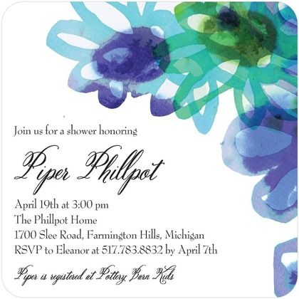 Gorgeous blues and greens make this Watercolor Bliss - Baby Shower Invitation pop.