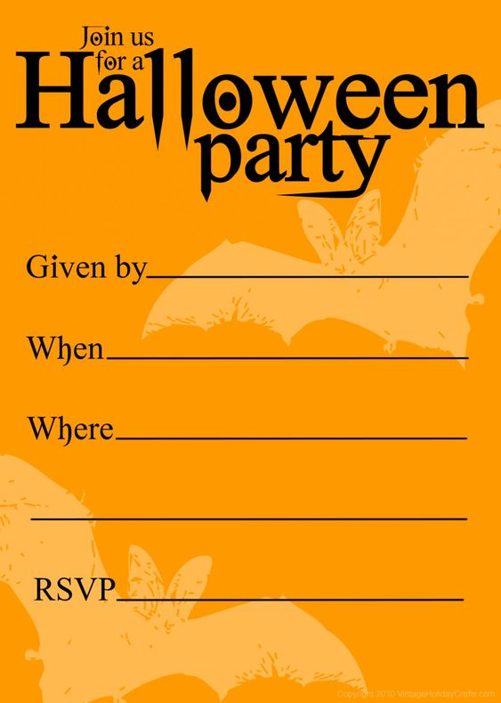 Free Printable Halloween Birthday Invitations Templates ...