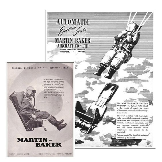 Very Cool - Original advert for The Martin-Baker ejector seat | The Games Room Company