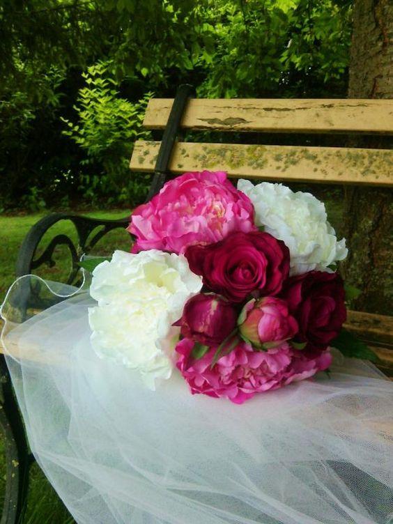 #artifleurs #mariage #wedding #bouquet #fleur #mariee  http://www.artifleurs-fleurs-artificielles.com/ #artificialflowers #flowers #amour