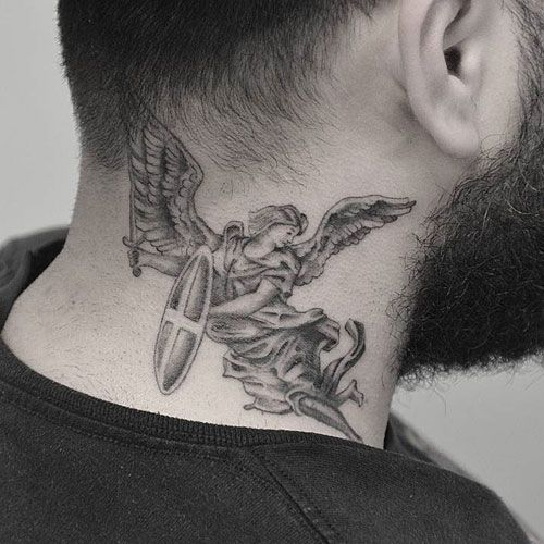 125 Best Neck Tattoos For Men Cool Ideas Designs 2020 Guide Neck Tattoo For Guys Behind The Neck Tattoos Best Neck Tattoos