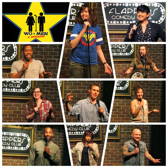 Had a blast Hosting another great WO+MEN 4 APPLAUSE comedy show @flapperscomedy Main Room March 24th, 2016! Here's some favorite moments!