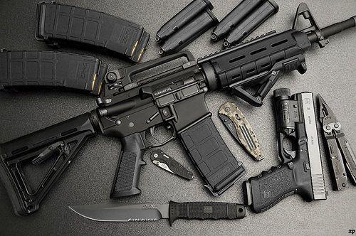 este un foto de los armas. solo usas para defensa personal
