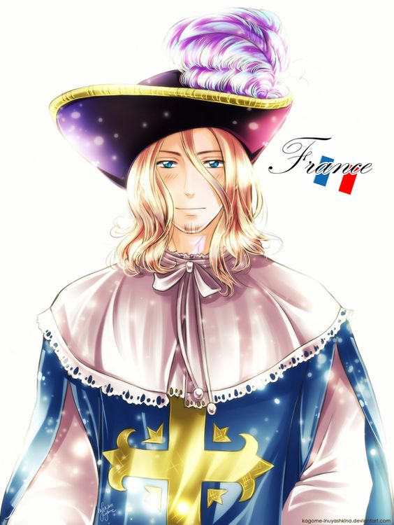APH: France by Kagome-Inuyashkina.deviantart.com on @deviantART - Francis as a Musketeer: