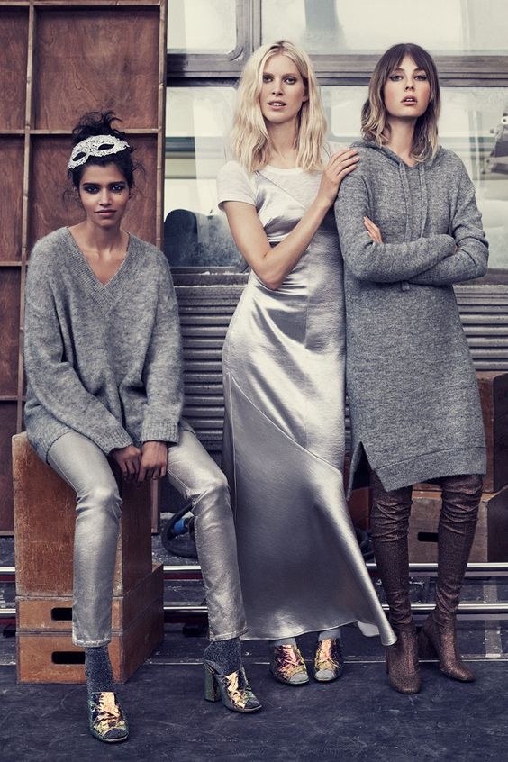 Come together in style with silky dresses, hi-shine metallics, oversized knits and on-trend trousers. | H&M Fall/Winter
