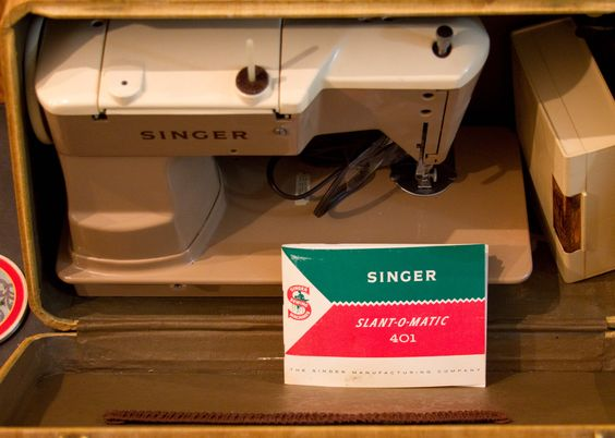 Early 1960s Singer Slant-O-Matic sewing machine, from Mike Letourneau.