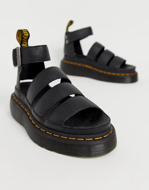 Dr Martens Clarissa II quad chunky sandals in black