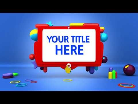 Intro Template For Kids No Copyright Video Youtube In 2020 Intro Youtube Kids Kids