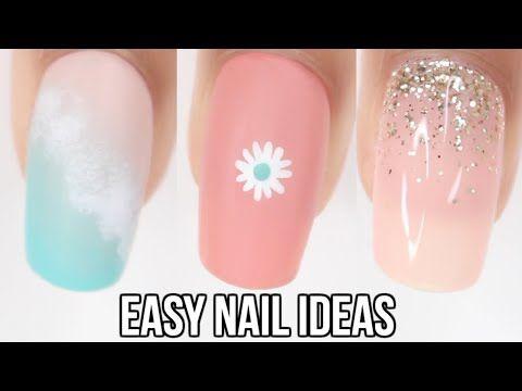 Easy Nail Ideas Summer Nail Art Youtube Nail Art Summer Simple Nails Summer Nails