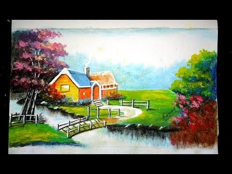 How To Draw Landscape Scenery Of Beautiful Nature Step By Step Youtube Landscape Photography Nature Landscape Scenery Landscape Artist