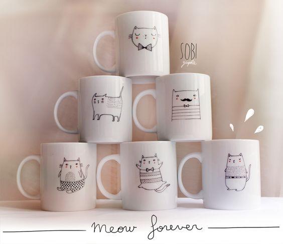 Sobi ♥ Des tasses si mignonnes ! #Porcelaine150 #Inspiration