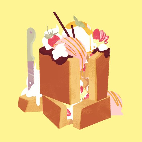 mood: tenderly painting a honey toast like it's a portrait of a lover