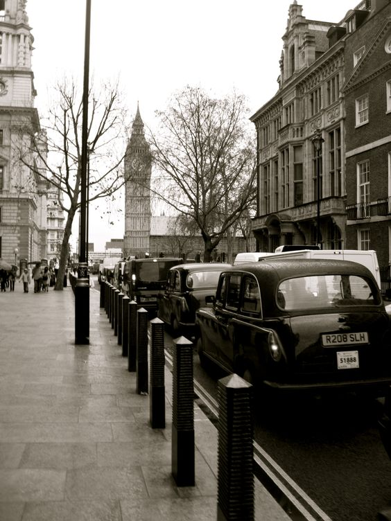 London. B & W street.