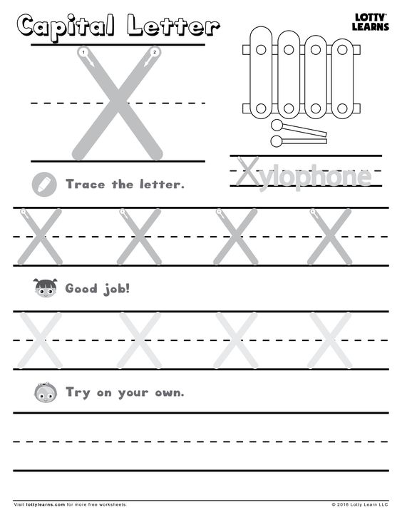 Capital Letter X | Lotty Learns | ABC Printables (Uppercase ...