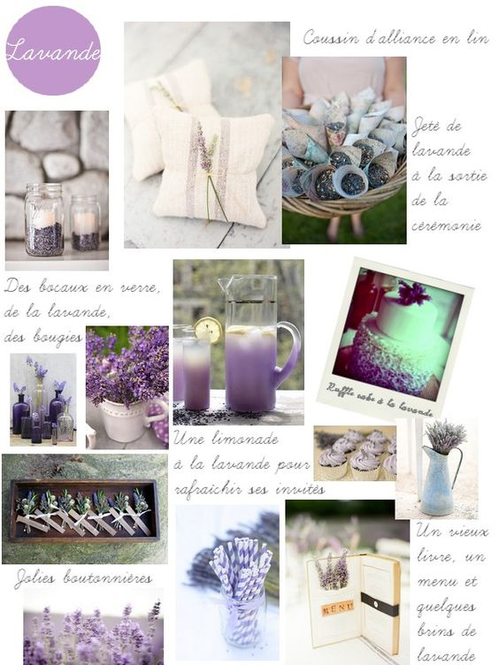 lavande  Lavender  Pinterest  Mariage, Inspiration and Search