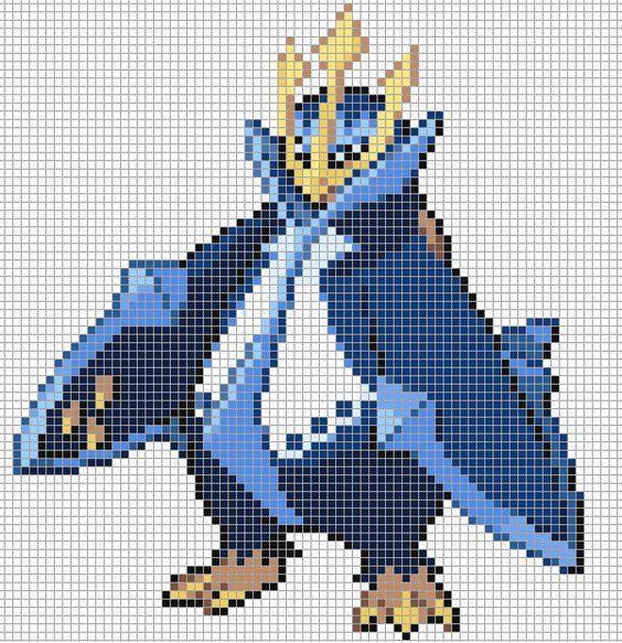 Pixel Art Pokemon En 2020 Pixel Art Pokemon Coloriage Pixel Art Point De Croix Pokemon