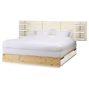 Mandal Kopfteil Birke Weiss Ikea Schweiz Bett Mit Stauraum Ikea Bett Bett Lagerung