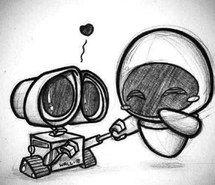 wall-e y eva dibujo - Buscar con Google