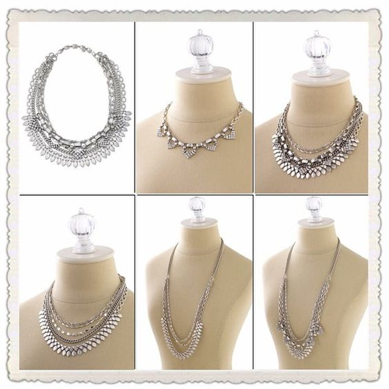 Le collier Sutton argenté peut se porter de 5 façons différentes. Stella & Dot - www.stelladot.fr/sites/eveline