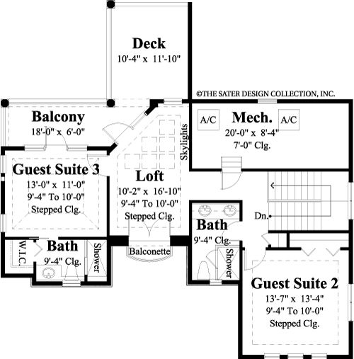 designer dream homes - second floor plan | home--floorplans: i <3