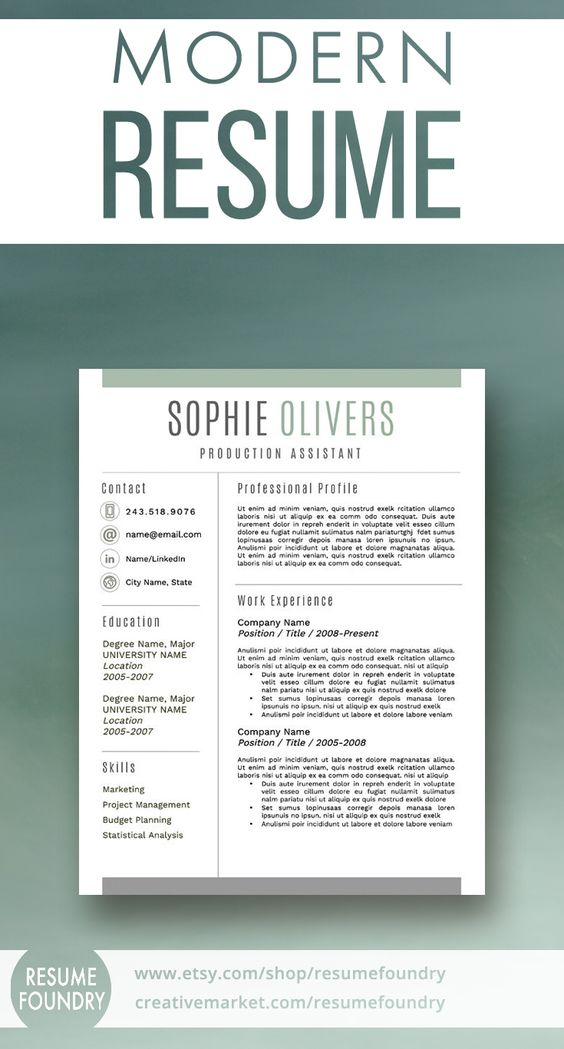 157 best Modern CV Template images on Pinterest Resume templates - modern resume tips