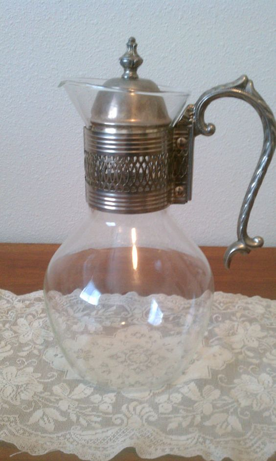 Vintage Silverplate Corning Brand Heatproof Carafe by MaisondeQ, $30.00