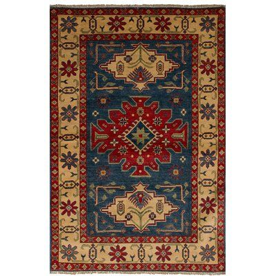 Isabelline One Of A Kind Sely Hand Knotted Wool Navy Blue Area Rug Blue Wool Rugs Navy Wool Rugs Navy Area Rug