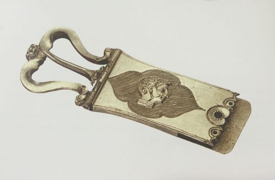 15th-century Venetian belt fitting, decorated with niello.  The British Museum collection.