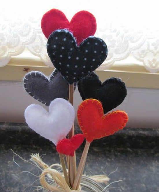 Artesanatos Em Tecido Para Dia Dos Namorados Pop Lembrancinhas